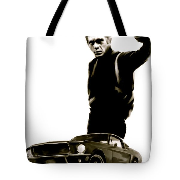 Bullet Cool  Steve McQueen Tote Bag by Iconic Images Art Gallery David Pucciarelli