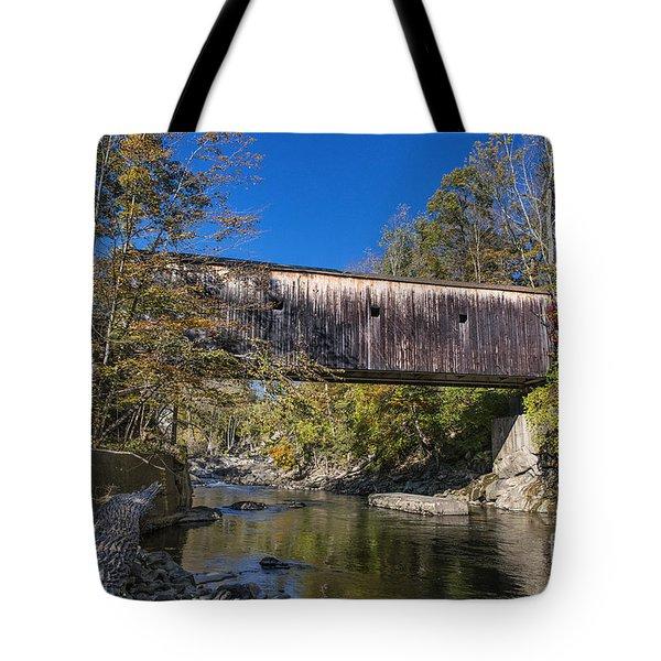 Bulls Bridge Tote Bag by John Greim