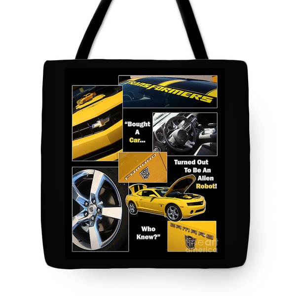 Bumble Bee-robot - Poster Tote Bag by Gary Gingrich Galleries