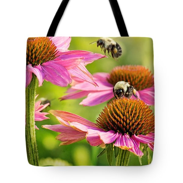 Bumbling Bees Tote Bag by Bill Pevlor