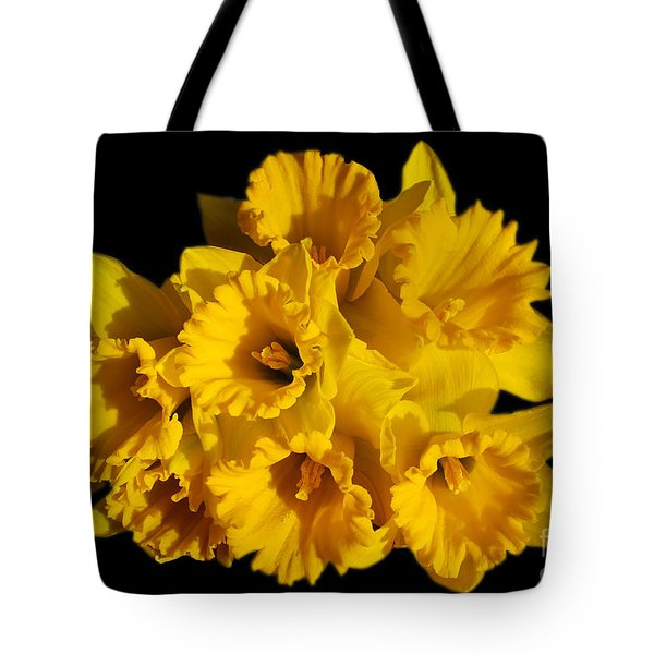 Bunch of Daffodils Tote Bag by JM Braat Photography