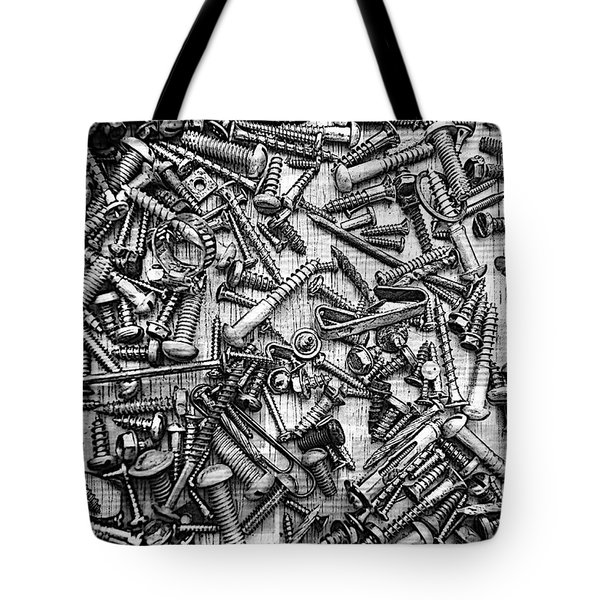 Bunch Of Screws 3- Digital Effect Tote Bag by Debbie Portwood