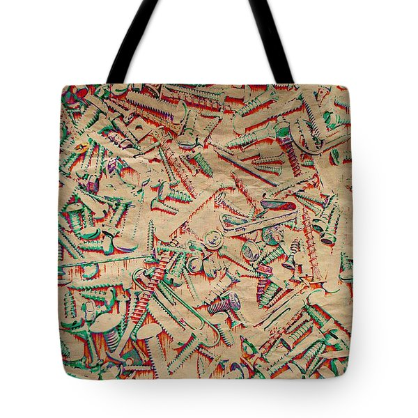 Bunch Of Screws 5 - Digital Effect Tote Bag by Debbie Portwood