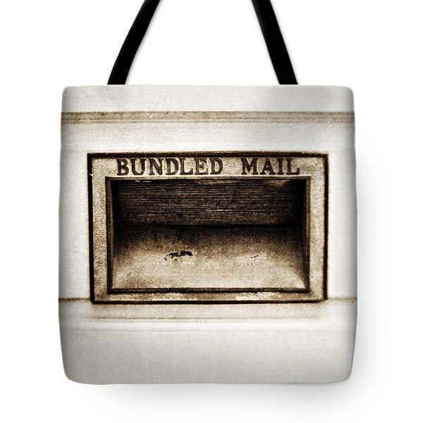 Bundled Mail Tote Bag by Scott Pellegrin