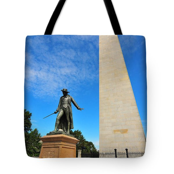 Bunker Hill Monument Tote Bag by Catherine Reusch  Daley