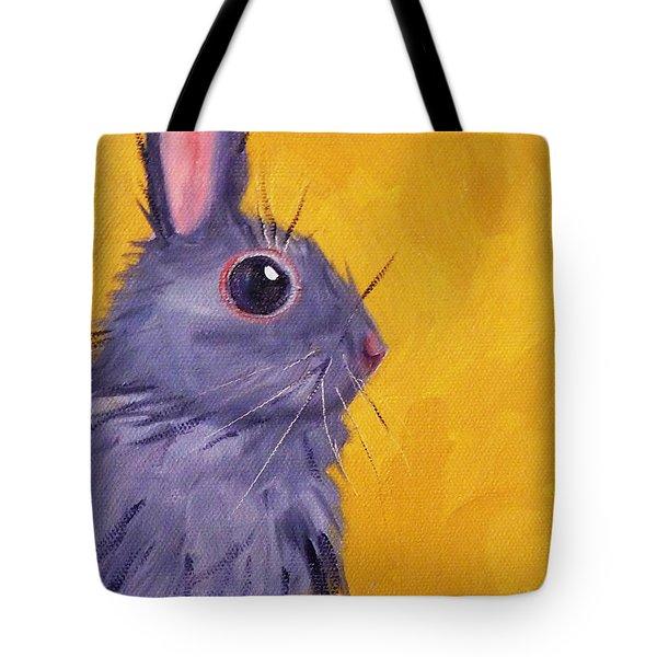 Bunny Tote Bag by Nancy Merkle