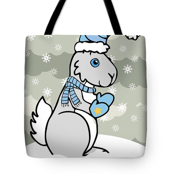 Bunny Winter Tote Bag by Christy Beckwith
