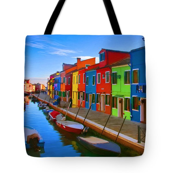 Burano Island In The Venetian Lagoon Tote Bag by Michael Pickett