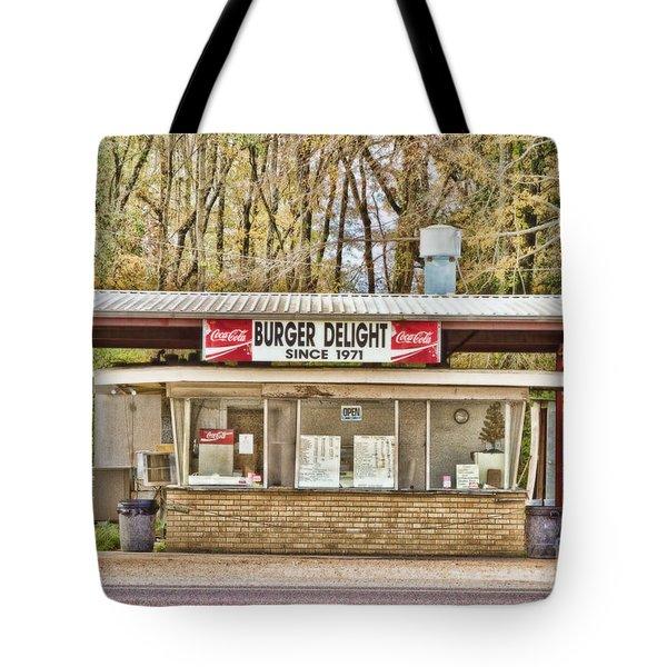 Burger Delight Tote Bag by Scott Pellegrin