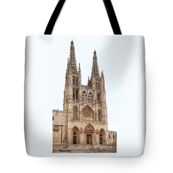 Burgos Cathedral Spain Tote Bag by Rudi Prott
