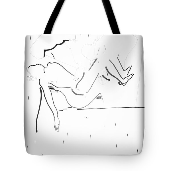 Burial Of Jesus Christ Tote Bag by Gloria Ssali