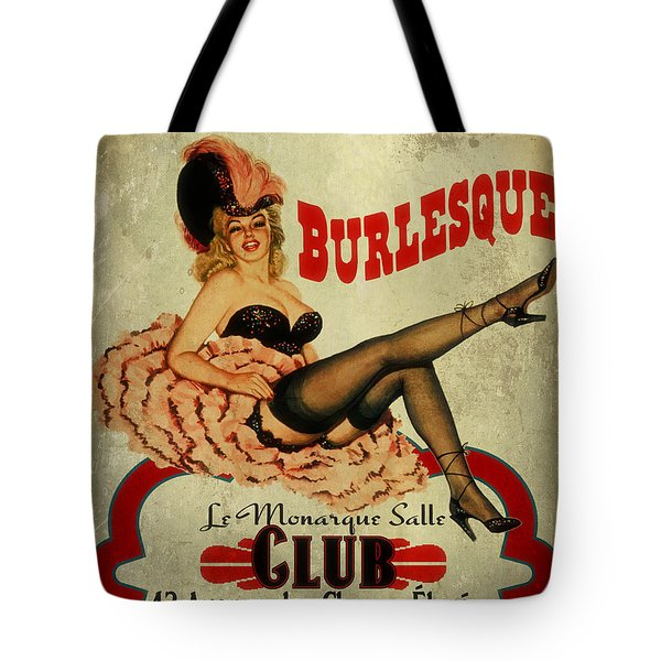 Burlesque Club Tote Bag by Cinema Photography