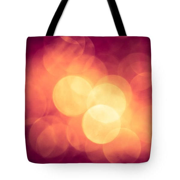 Burning Bokeh Tote Bag by Jan Bickerton
