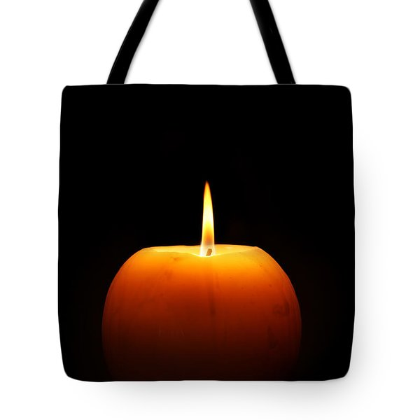 Burning Candle Tote Bag by Johan Swanepoel