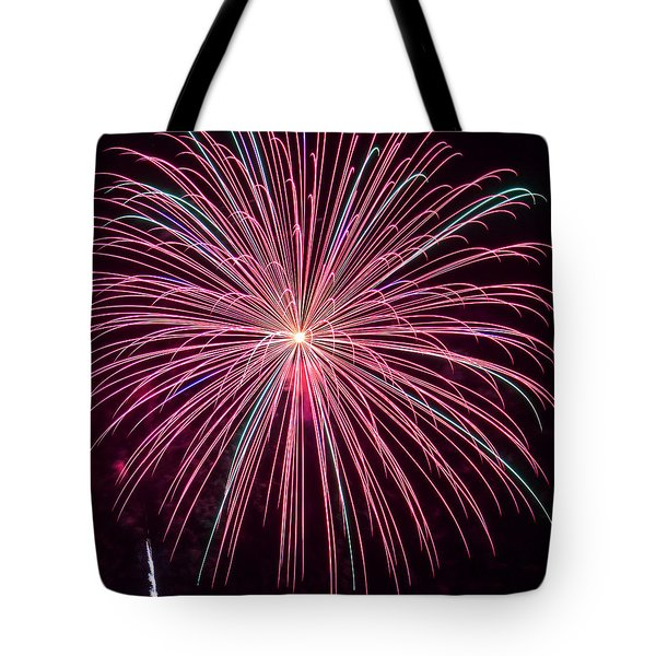 4th Of July Fireworks 24 Tote Bag by Howard Tenke