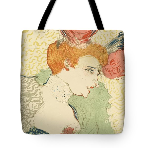 Bust Of Mlle. Marcelle Lender Tote Bag by Toulouse-Lautrec