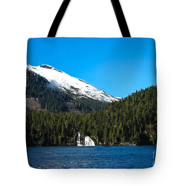 Butedale Falls Tote Bag by Robert Bales
