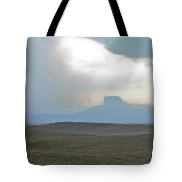 Butte In The Distance Tote Bag by David Kehrli