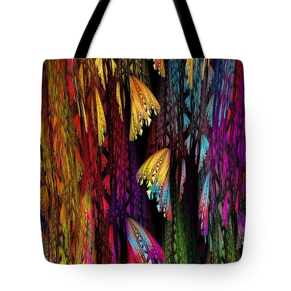Butterflies on the Curtain Tote Bag by Klara Acel