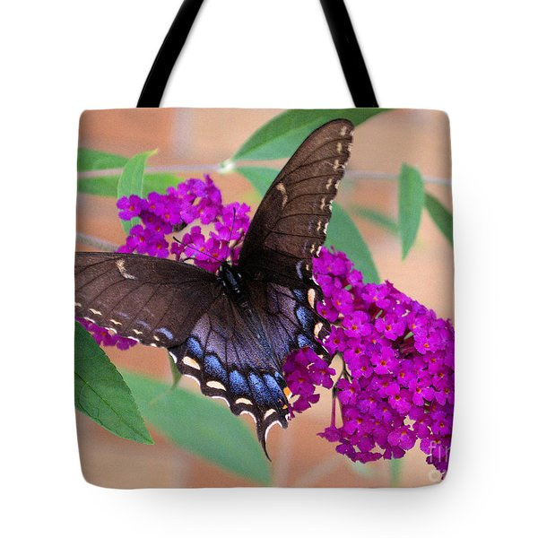 Butterfly And Friend Tote Bag by Luther   Fine Art