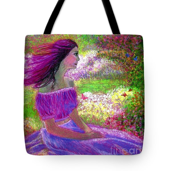 Butterfly Breezes Tote Bag by Jane Small