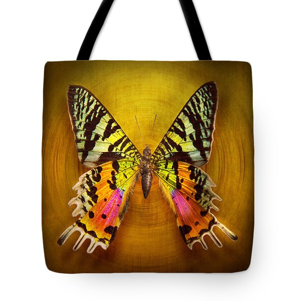 Butterfly - Butterfly Of Happiness Tote Bag by Mike Savad