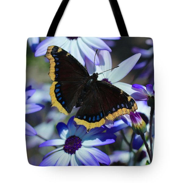 Butterfly In Blue Tote Bag by Heidi Smith