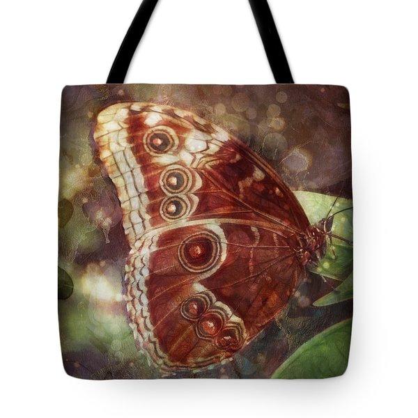 Butterfly In My Garden Tote Bag by Barbara Orenya