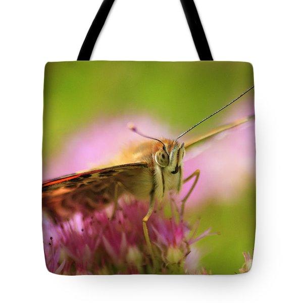 Butterfly Macro Tote Bag by Adam Romanowicz