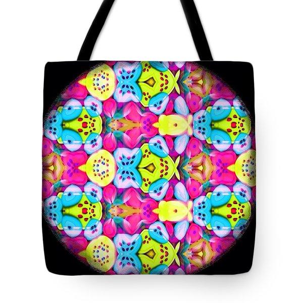 Butterfly Mandala Tote Bag by Karen Buford