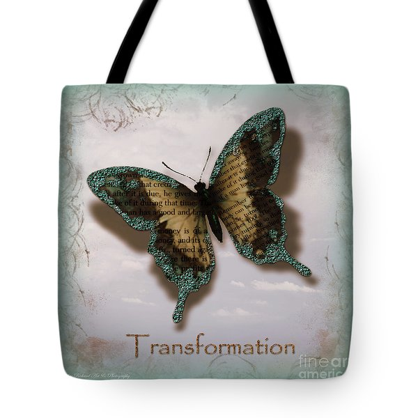 Butterfly of Transformation Tote Bag by Bobbee Rickard