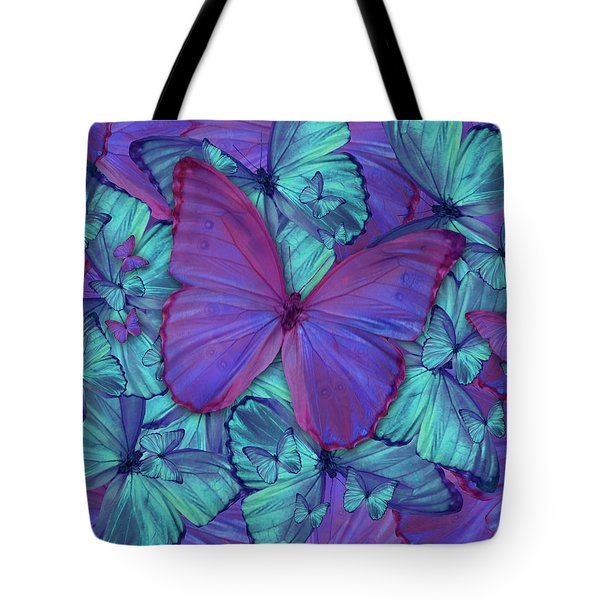 Butterfly Radial Violetmorpheus Tote Bag by Alixandra Mullins