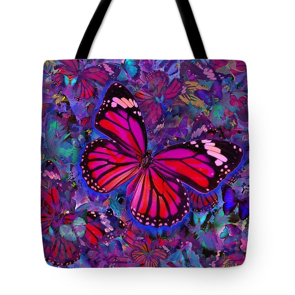 Butterfly Red Explosion Tote Bag by Alixandra Mullins
