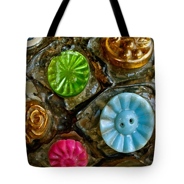 Button Biographies Tote Bag by Gwyn Newcombe