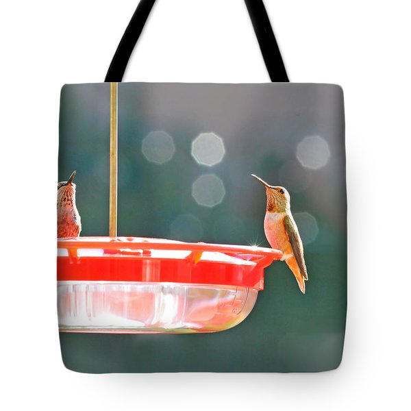 Buzzing Overhead Tote Bag by Lynn Bauer