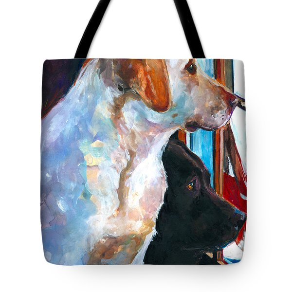 By My Side Tote Bag by Molly Poole