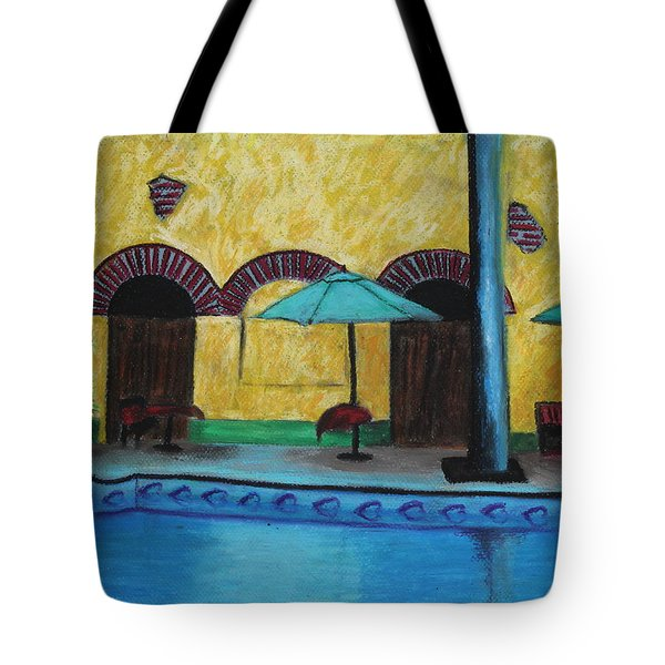 By The Poolside Tote Bag by Jeanne Fischer
