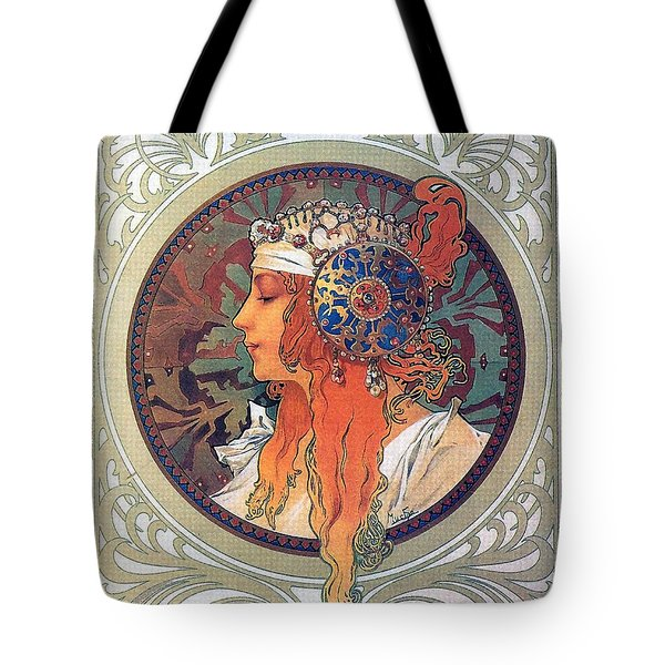Byzantine Head The Blonde Tote Bag by Philip Ralley