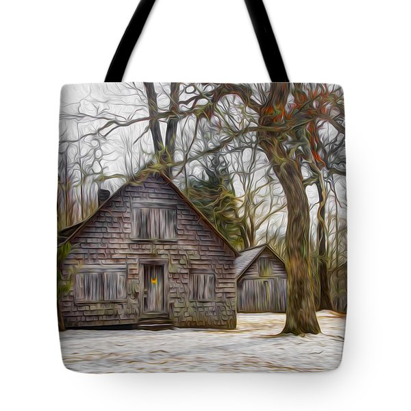 Cabin Dream Tote Bag by Debra and Dave Vanderlaan