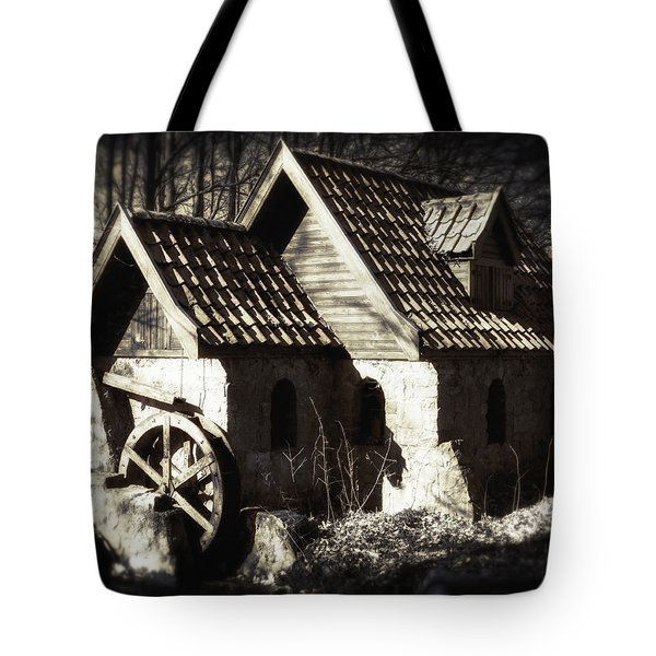 Cabin In The Woods Tote Bag by Wim Lanclus