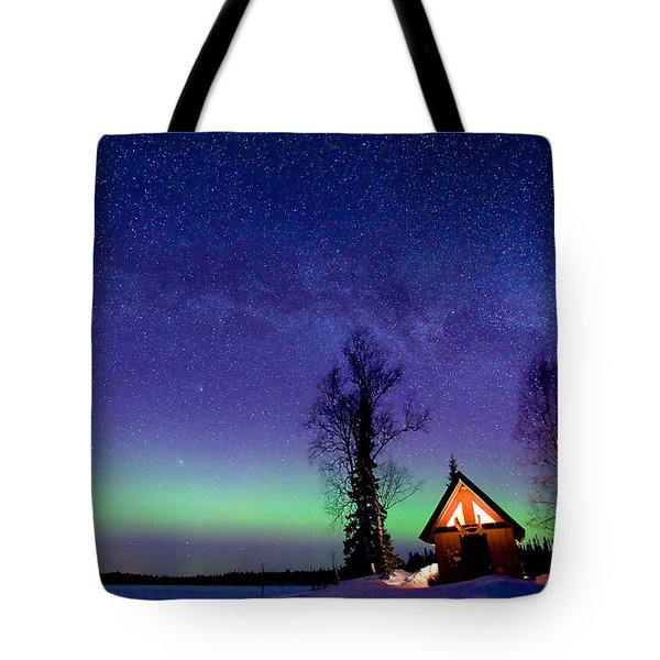 Cabin's Glow Tote Bag by Ed Boudreau