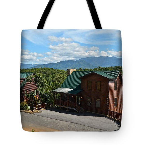 Cabins in the Smokies Tote Bag by Frozen in Time Fine Art Photography