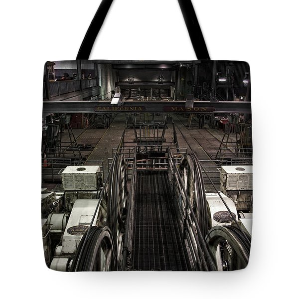 Cable car barn in San Francisco Tote Bag by RicardMN Photography