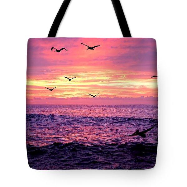Cabo San Lucas Sunrise Tote Bag by Marcia Colelli