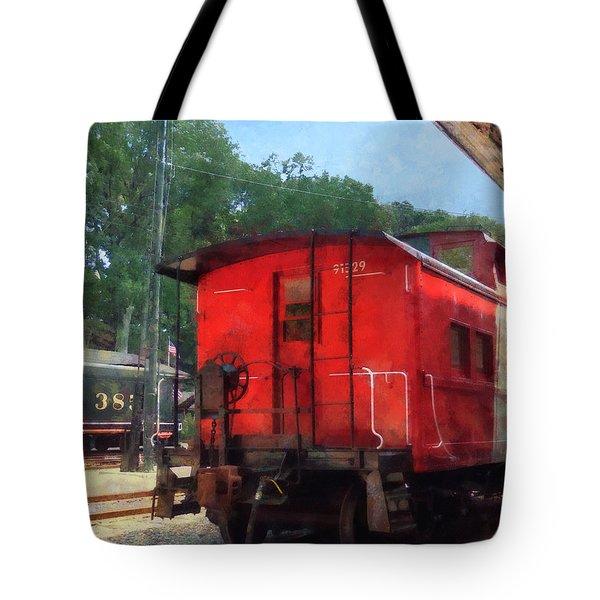 Caboose Tote Bag by Susan Savad
