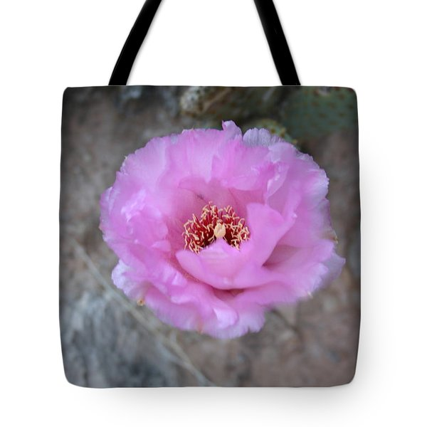 Cactus Flower Tote Bag by Crystal Magee
