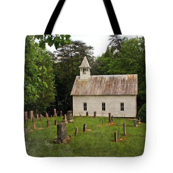 Cades Cove Church Tote Bag by Marty Koch