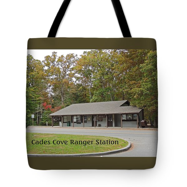 Cades Cove Ranger Station Tote Bag by Marian Bell