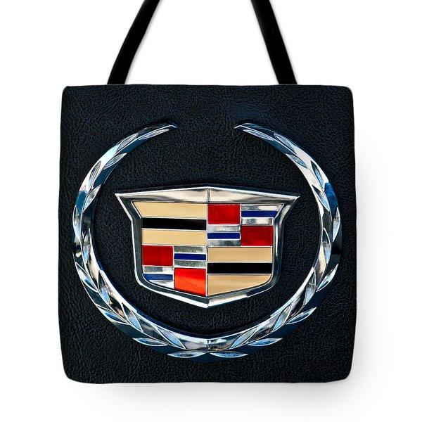 Cadillac Emblem Tote Bag by Jill Reger