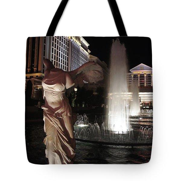 Caesars Fountain Tote Bag by Jenny Hudson
